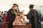 The VC congratulates me at Henley Business School's Graduation Ceremony on Friday, 18th October