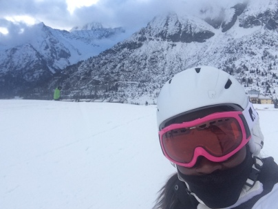 Skiing helps the chilly force feel fine